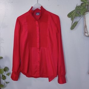 Vintage Koret Red Blouse Size 14 - Large